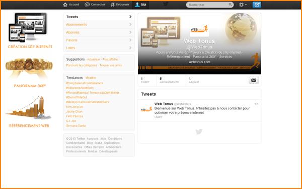 Compte Twitter pour entreprise